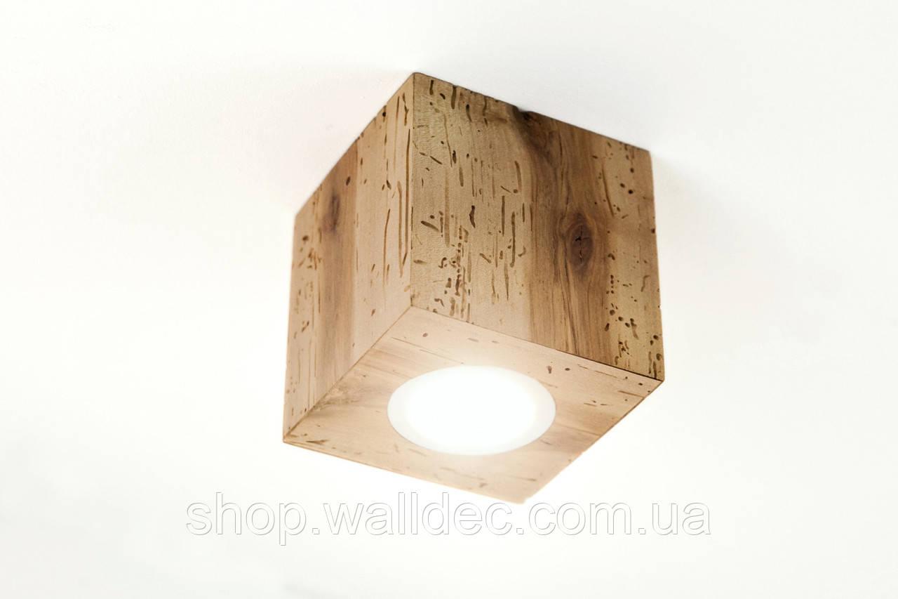 Светильник деревянный потолочный Rubicon 3
