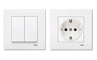 Розетки, выключатели и рамки VIKO KARRE (внутренние)