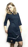 Коктейльное платье темно-синее П214