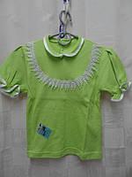Блузка для девочки 100%хлопок, 36р.(134см)-салатовая - Лули Украина