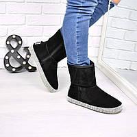 Угги женские Luxury черные 3886 41 р, зимняя обувь