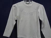 Блузка для девочки 100%хлопок, 34р.(110-116см)-белая - Лули Украина