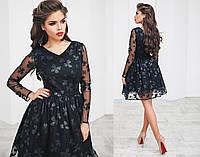 Красивое котельное платье средней длины