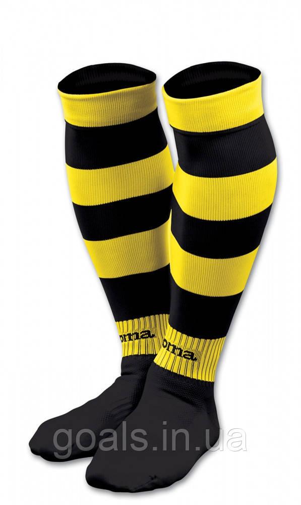 Гетры футбольные ZEBRA Желто-черные