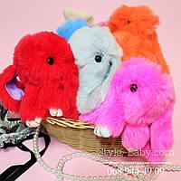 Меховые брелки Кролики на сумку/рюкзак/ ключи