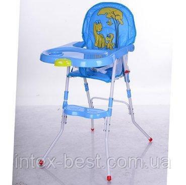 Детский стульчик для комления Bambi (M 3508-4) Голубой, фото 2