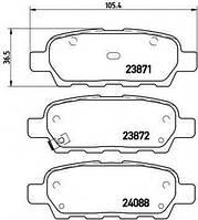 Тормозные колодки дисковые BREMBO P56046 на NISSAN X-TRAIL (T31)