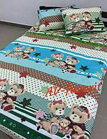Детский комплект постельного белья Мишки Тедди2 (БЯЗЬ)