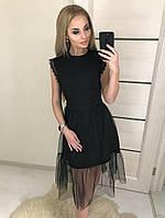 Вечернее, коктейльное, нарядное, стильное черное платье