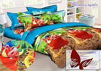 Стеганное покрывало-одеяло для детей Тимон и Пумба (160х212) (Pokryvalo-019)