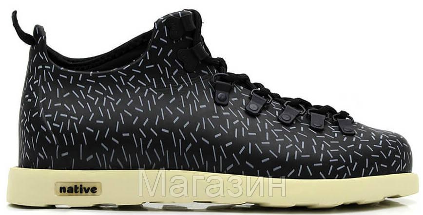 Мужские ботинки Native Fitzsimmons в стиле черные