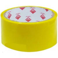 Скотч упаковочный цветной 48мм * 50м Klerk KL1950-Y, желтый, 40мкм