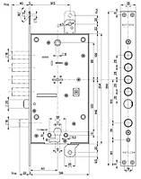 Замок  Mottura  Art. 54797TBDR564-риг с защелкой и вспом. замком под евро цилиндр (без накладок) правый