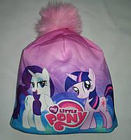 Детская  зимняя шапка на флисе My Little Pony Пони 50-54р