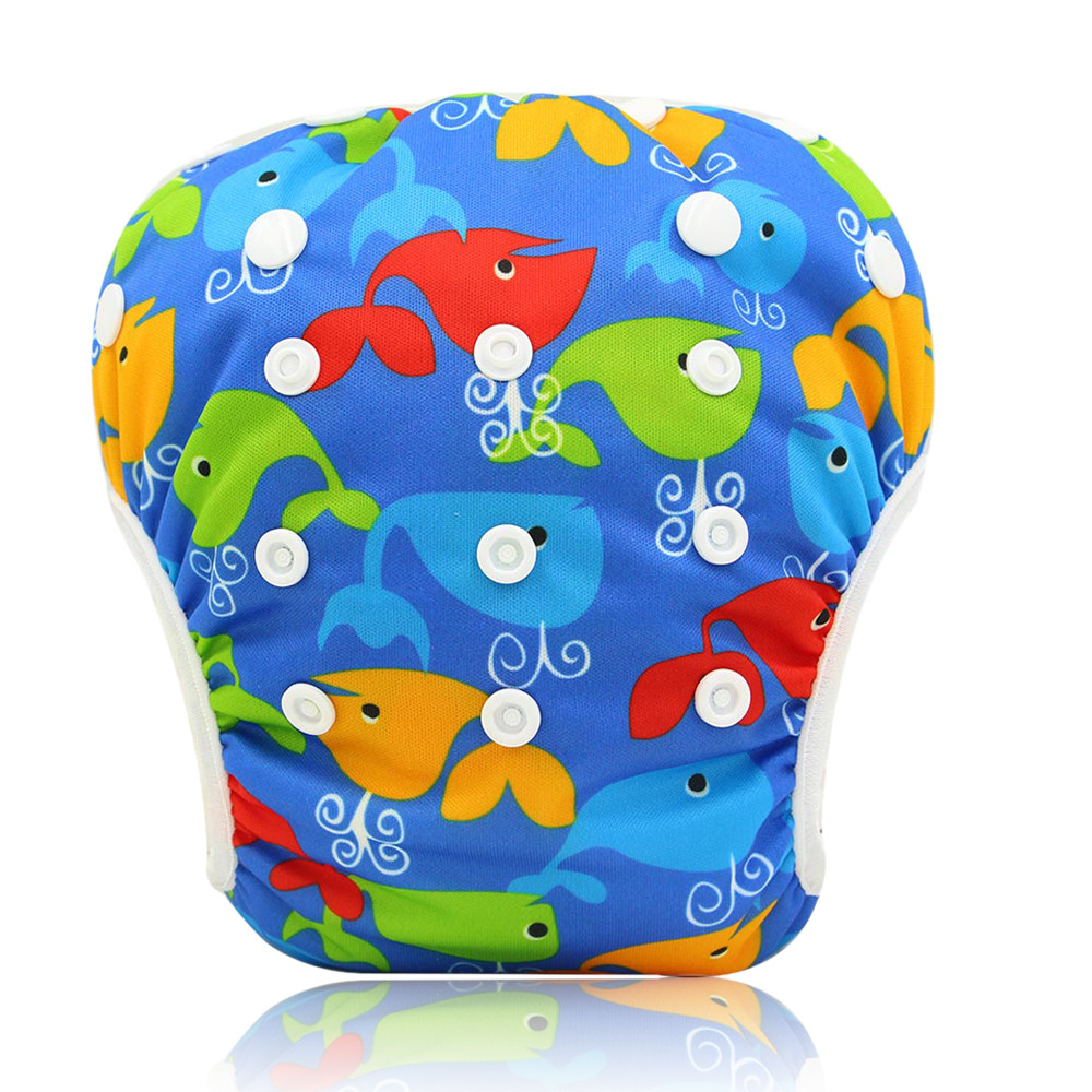 """Підгузник трусики багаторазовий дитячий для плавання, басейну, моря """"Кити"""""""
