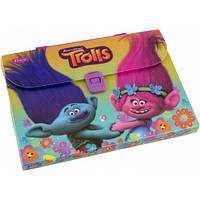 Папка портфель пластиковый А4 1 Вересня Trolls 491308-1307
