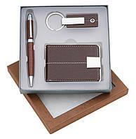 Набор подарочный (авторучка, визитница, брелок) в подарочной коробке