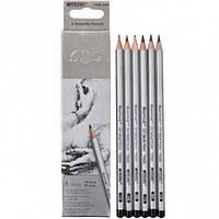 Набор карандашей графитных MARCO Raffine 7000-6CB (HB,2B,4B,6B,7B,8B) (6 шт)