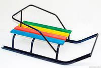 """Сани """"Классик""""БЕЗ РУЧКИ/ Детские санки изготовлены из стальной трубы, сидение – деревянная планка. Санки с пло"""