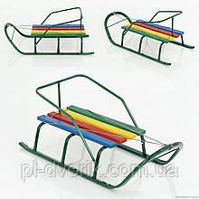"""Сани """"Класик""""БЕЗ РУЧКИ/ Дитячі санки виготовлені зі сталевої труби, сидіння – дерев'яна планка. Санки з пло"""