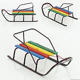 """Сани """"Классик""""БЕЗ РУЧКИ/ Детские санки изготовлены из стальной трубы, сидение – деревянная планка. Санки с пло, фото 5"""