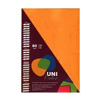 Бумага цветная А4 Uni Color (80 г/кв.м.) 100 лис., неоновый оранжевый