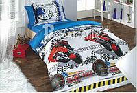 Детский комплект постельного белья Мотоциклы (БЯЗЬ)