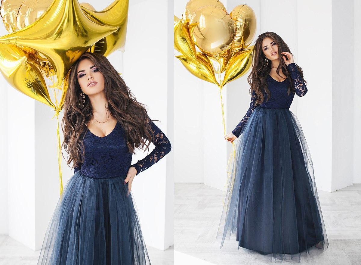 Изумительно красивое длинное платье гипюр+атлас+фатин.
