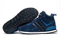 Зимние кроссовки Adidas Fastr TEX замша, мужские, темно-синие, на меху, р. 43 45 46