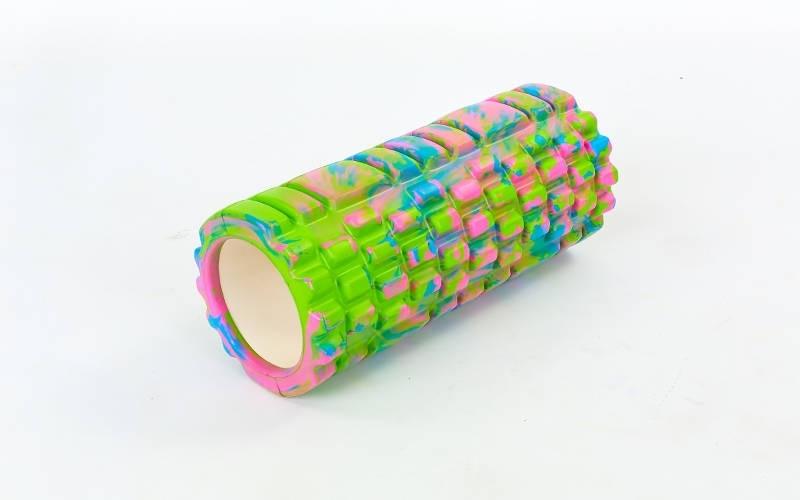 Роллер массажный (Grid Roller) для йоги, мультиколор