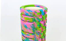 Роллер массажный (Grid Roller) для йоги, мультиколор , фото 3