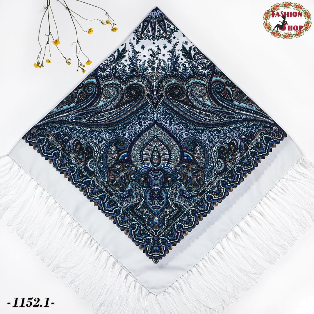 Павлопосадский шерстяной платок Восточная сказка