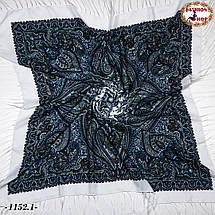 Павлопосадский шерстяной платок Восточная сказка, фото 2