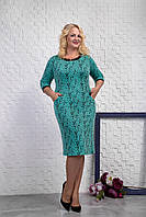 Оригинальное платье для женщин. Платье мягкое теплое. Повседневный стиль. Нарядное платье зеленого цвета