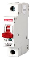 Модульный автоматический выключатель C6, 1 р, 6А, C, 10кА