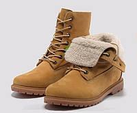 Ботинки Timberland Teddy Fleece Желтые