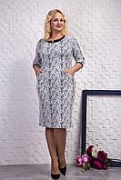 Оригинальное платье для женщин. Платье мягкое теплое. Повседневный стиль. Нарядное платье белого цвета, фото 1