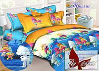Стеганное покрывало-одеяло для детей Тролли (160х212) (Pokryvalo-024)
