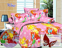 Стеганное покрывало-одеяло для детей Winx (160х212) (Pokryvalo-025)