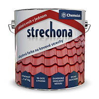"Краска Strechona ""Chemolak"" коричневый 2,5 кг.."
