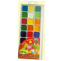 Краски акварель медовые ГАММА Забавные друзья 312082, 24 цвета, б/кист.