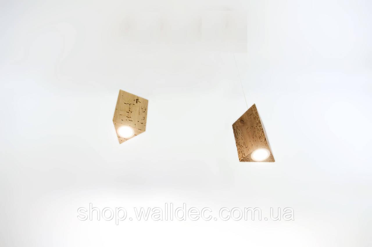 Светильник деревянный потолочный Trion 3