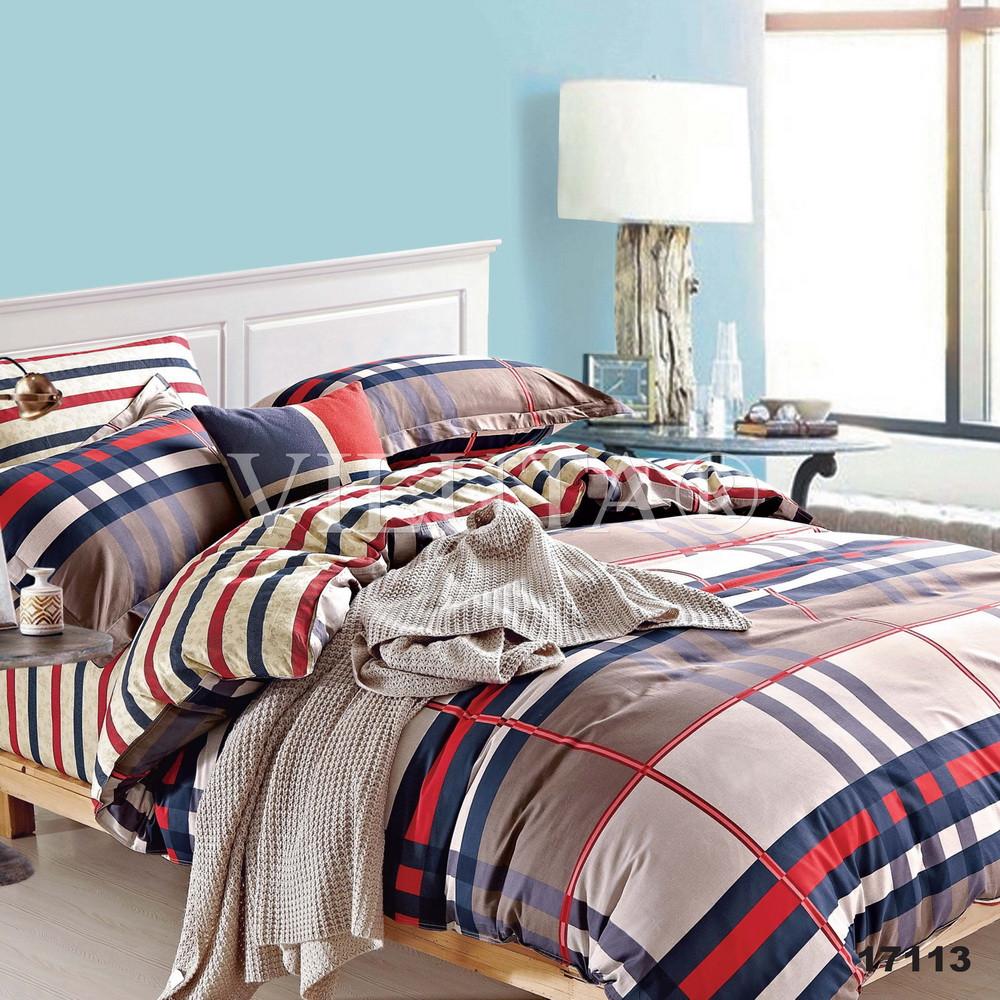 Двуспальный набор постельного белья 180*220 из Ранфорса №17113 Viluta™