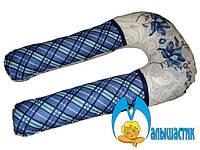 U-образная подушка для беременных Цветы и квадраты