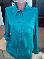 Рубашка женская с длинным рукавом на кнопках размер норма