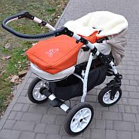 Зимний конверт в коляску оранжевый