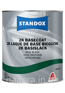 STANDOX Basecoat Real Black 1L  черный заводской базовый цвет