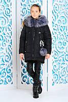 Красивая теплая куртка зима для девочки 32, 34, 36 размер.Детская верхняя зимняя одежда!