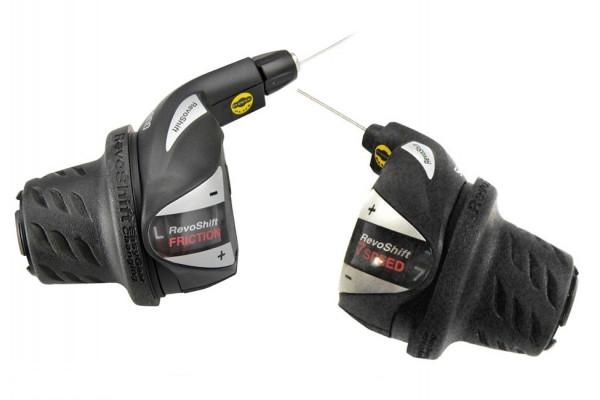 Манетки Shimano Tourney RevoShift SIS, SL-RS36 пара 3+7 скоростей + тросики