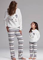 Теплые пижамы мама - дочка.Турция. CATHERINES 951